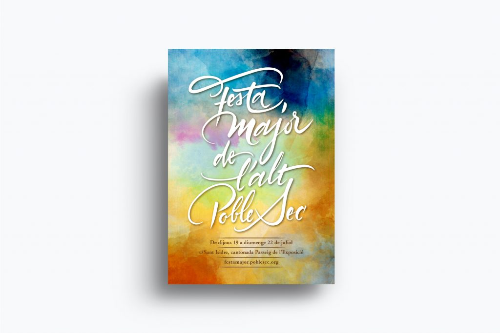 FESTA MAJOR DE L'ALT POBLE SEC | CALLIGRAPHY