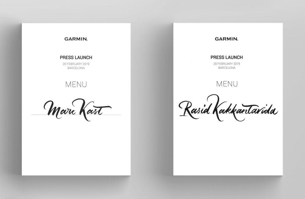 GARMIN | CALLIGRAPHY